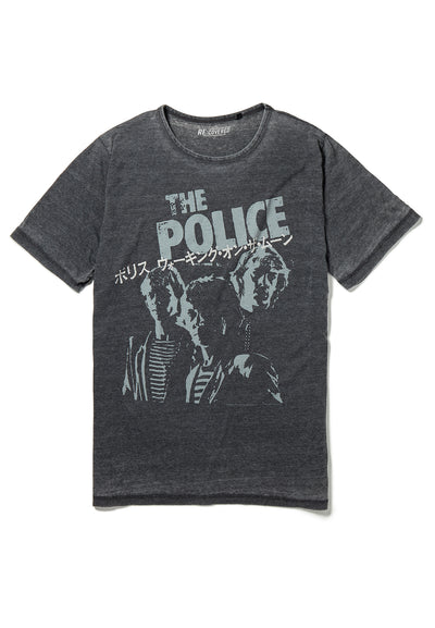 Recovered The Police Japanese Tour Charcoal T-Shirt