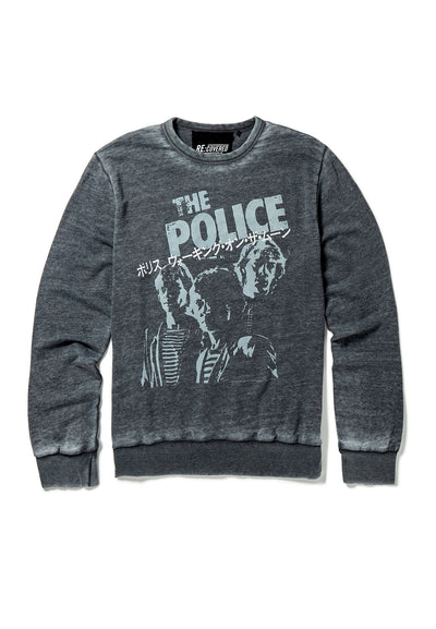 Recovered The Police Japanese Tour Charcoal Sweatshirt