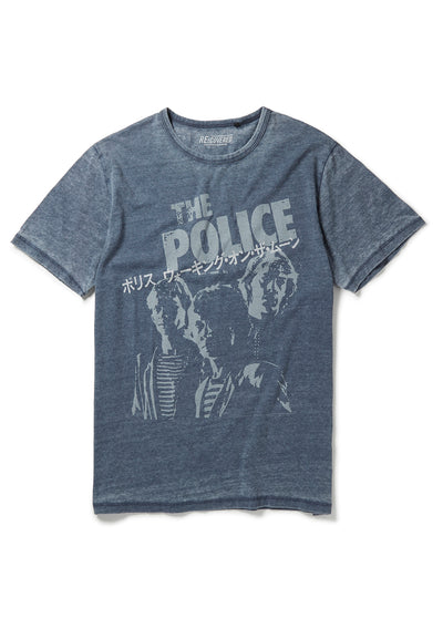 Recovered The Police Japanese Tour Blue T-Shirt