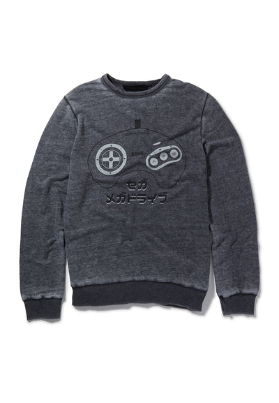 Recovered Sega Mega Drive Japanese Controller Charcoal Sweatshirt
