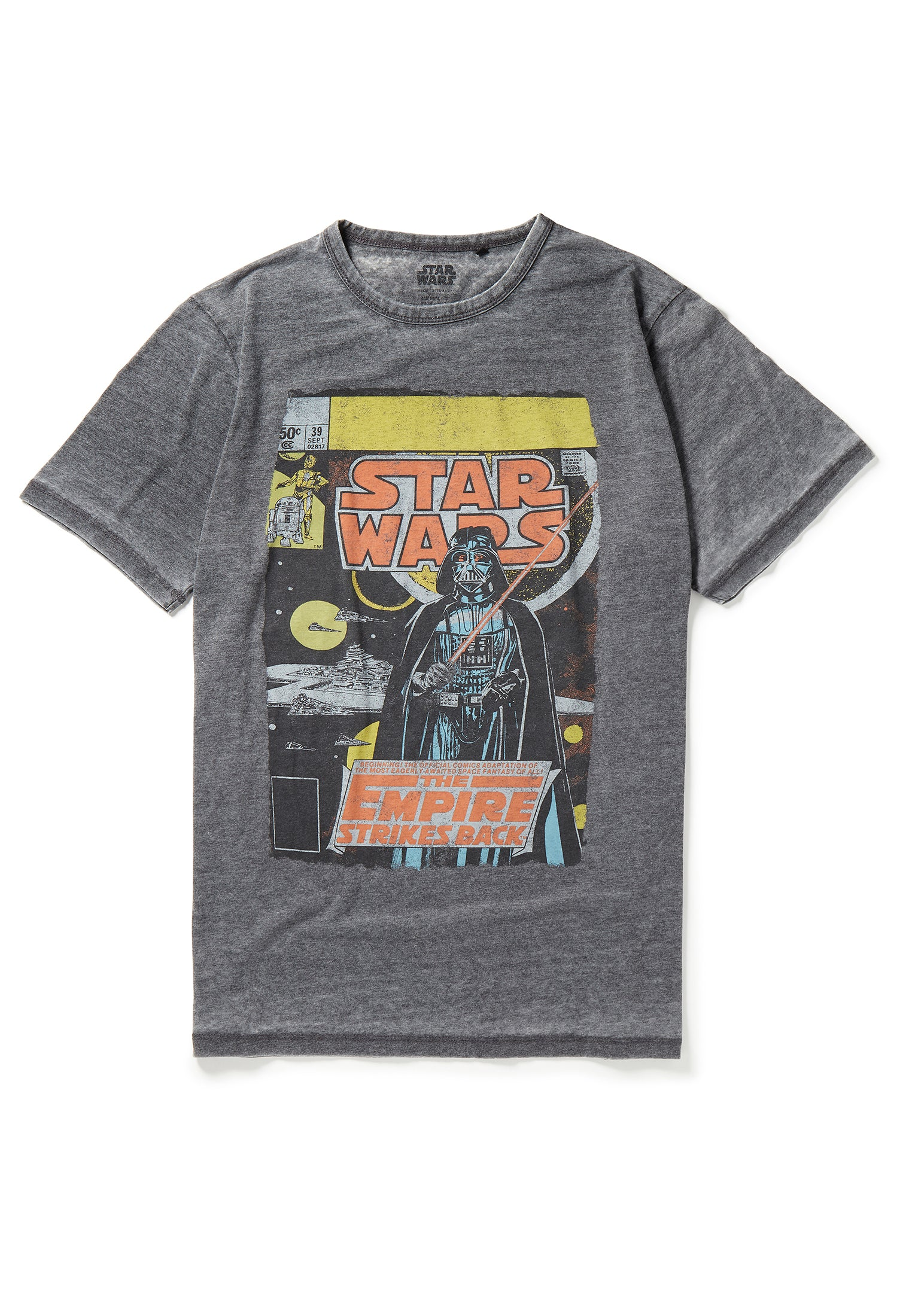 Recovered Star Wars Empire Strikes Back Cover Grey T-Shirt