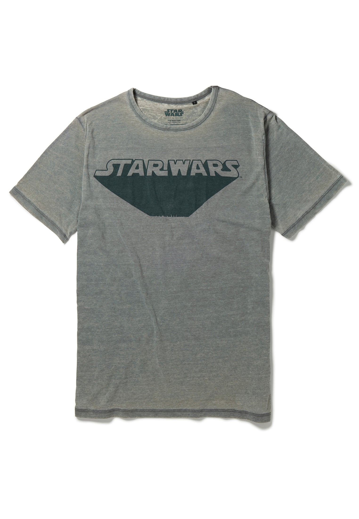 Recovered Star Wars Retro Zoom Logo Light Grey T-Shirt