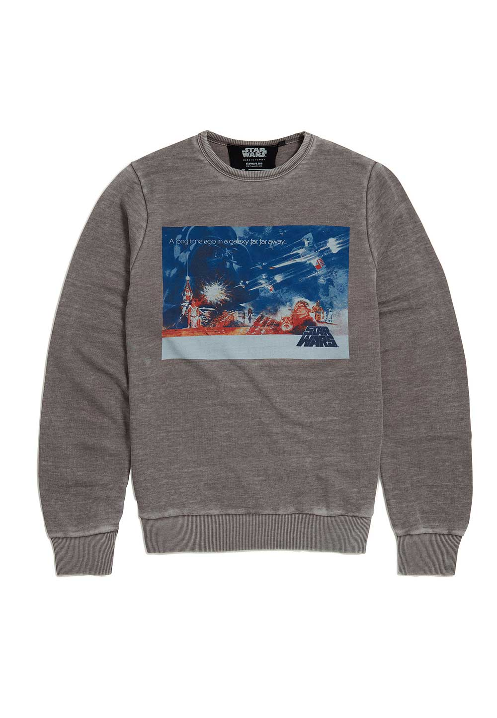 Recovered Star Wars Classic Landscape Poster Grey Sweatshirt