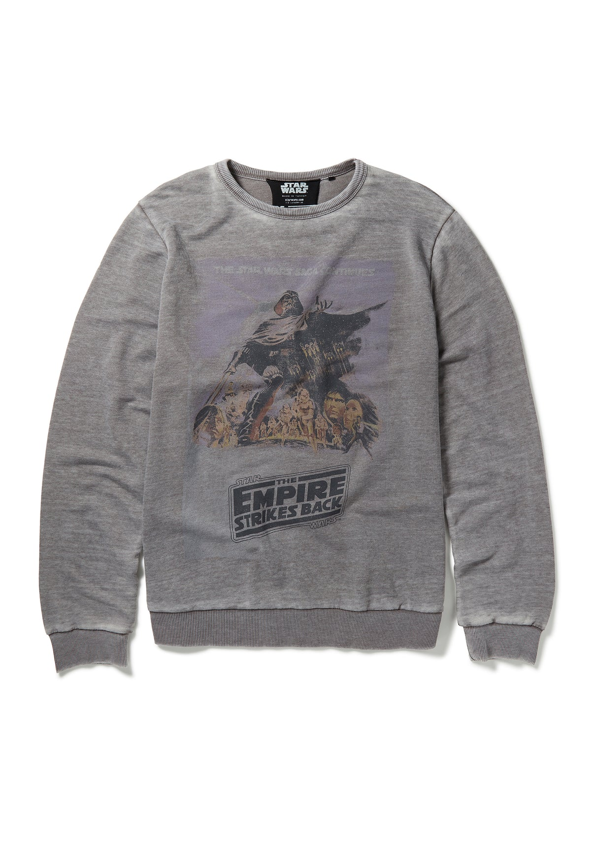 Recovered Star Wars Empire Strikes Back Poster Mid Grey Sweatshirt