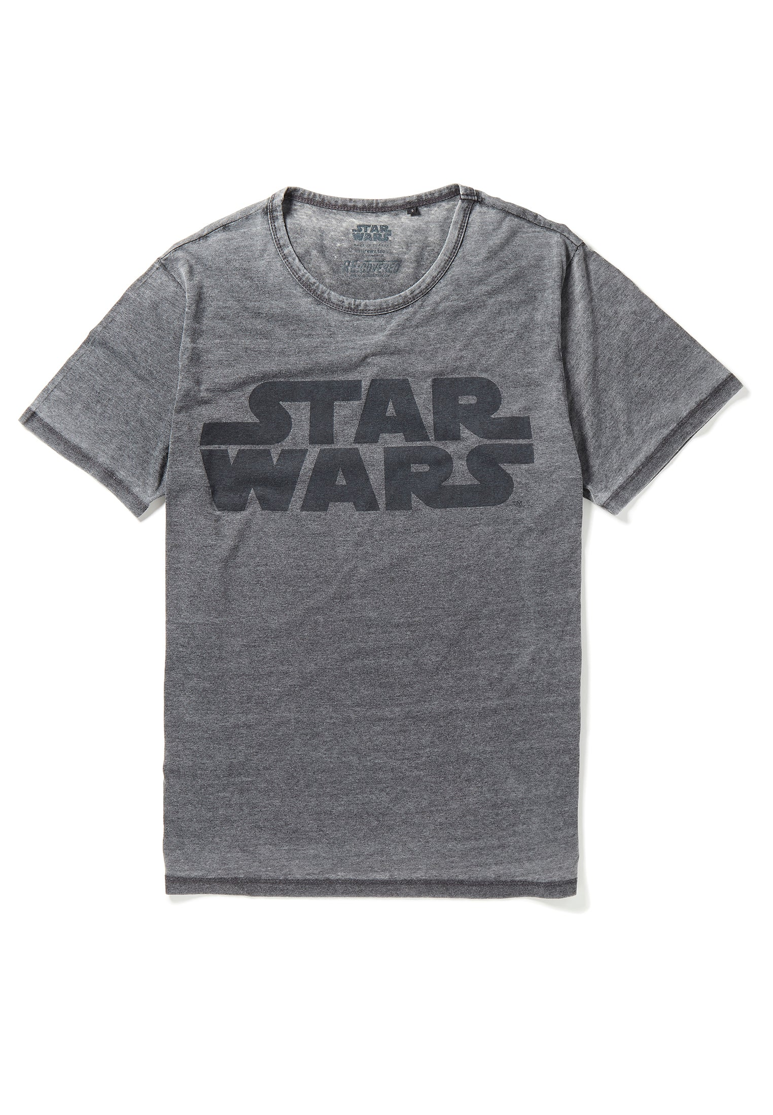 Recovered Star Wars Vintage Logo Charcoal T-Shirt