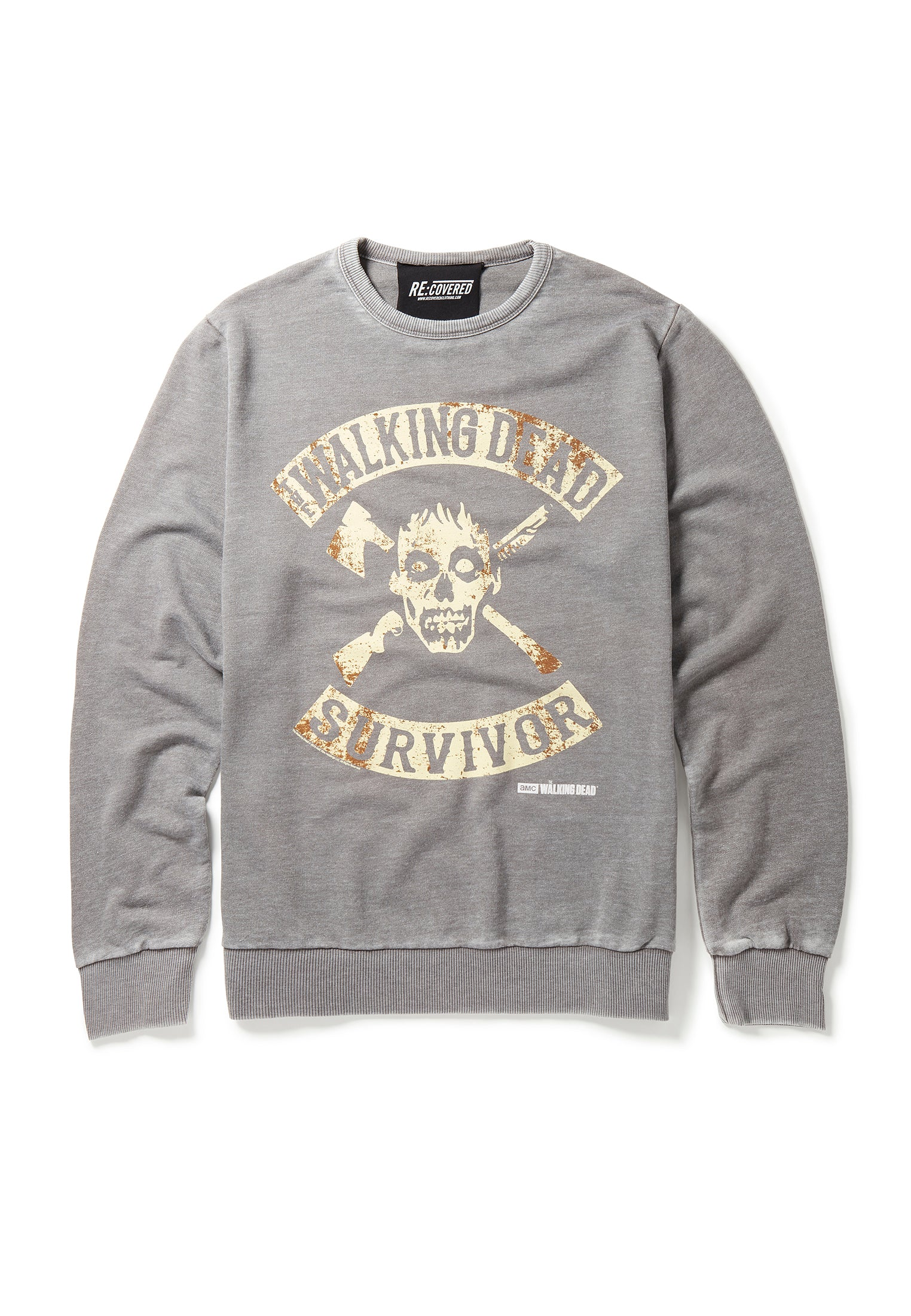 Recovered The Walking Dead Surviour Mid Grey Sweatshirt