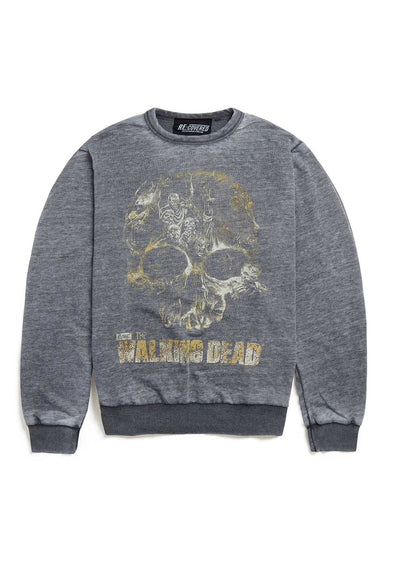 Recovered The Walking Dead Skull Charcoal Sweatshirt