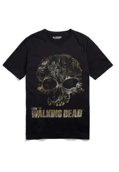 Recovered The Walking Dead Skull Black and Charcoal Pyjama Set
