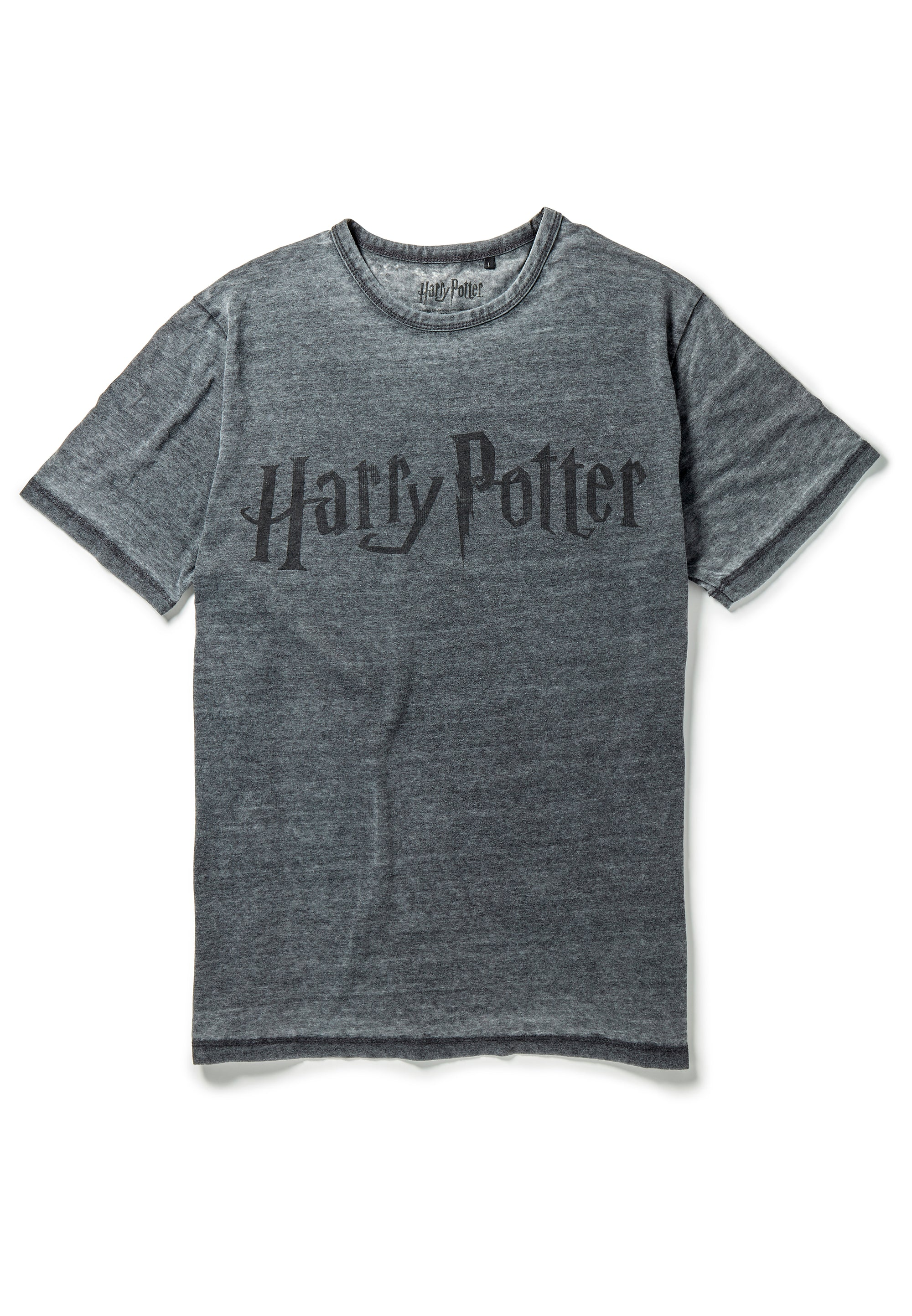 Recovered Harry Potter Classic Logo Charcoal T-Shirt