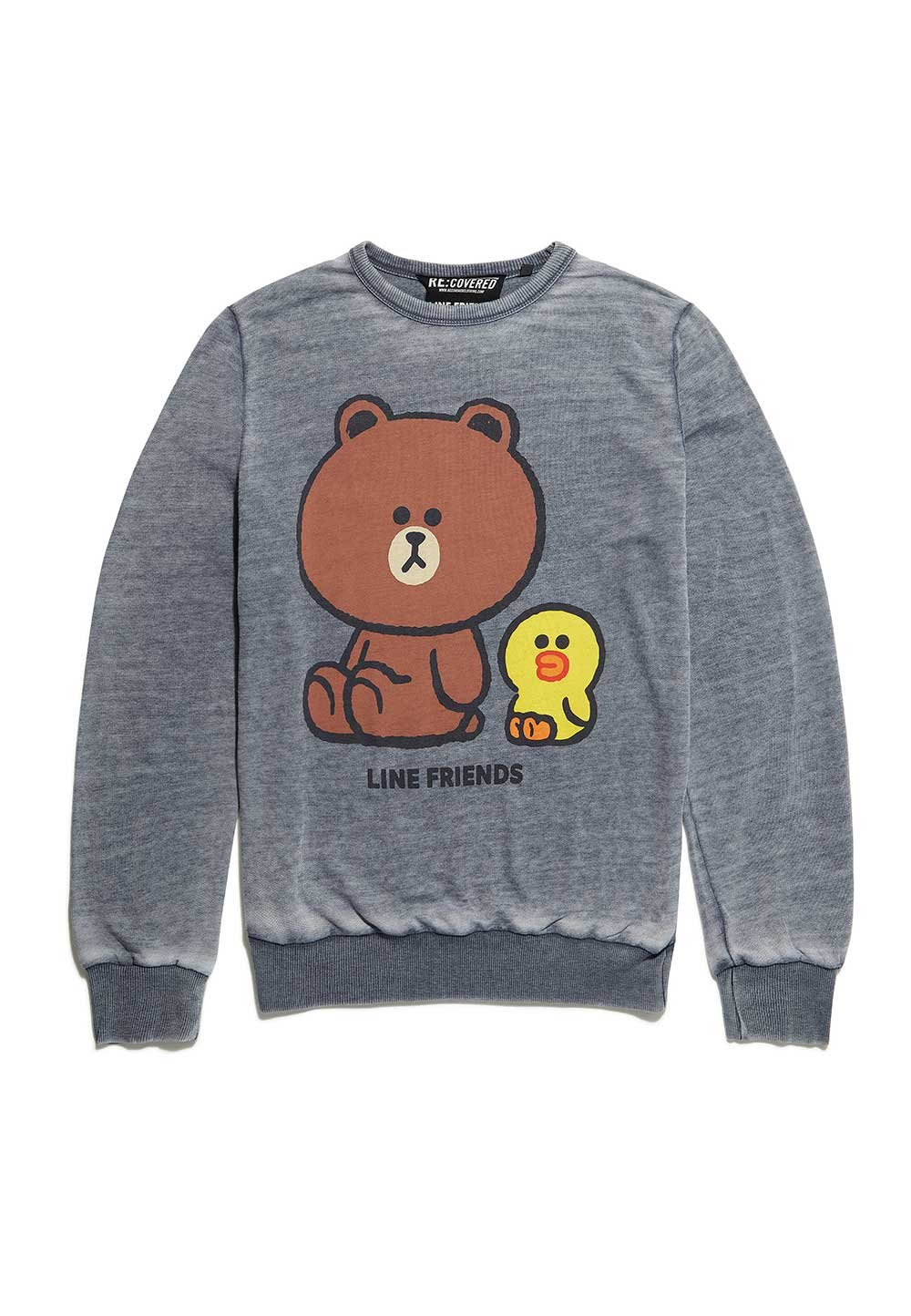 Recovered Line Friends Cony Brown Sally Vintage Grey Sweatshirt