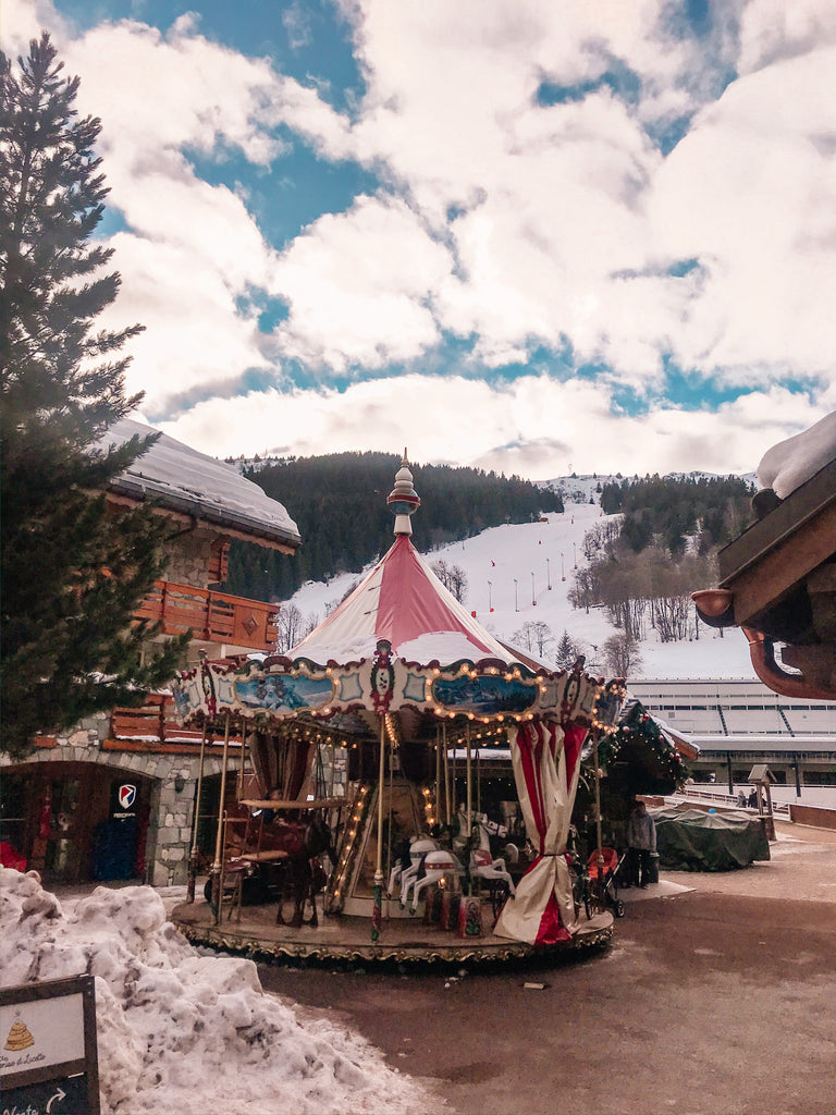 merry-go-round french alps meribel