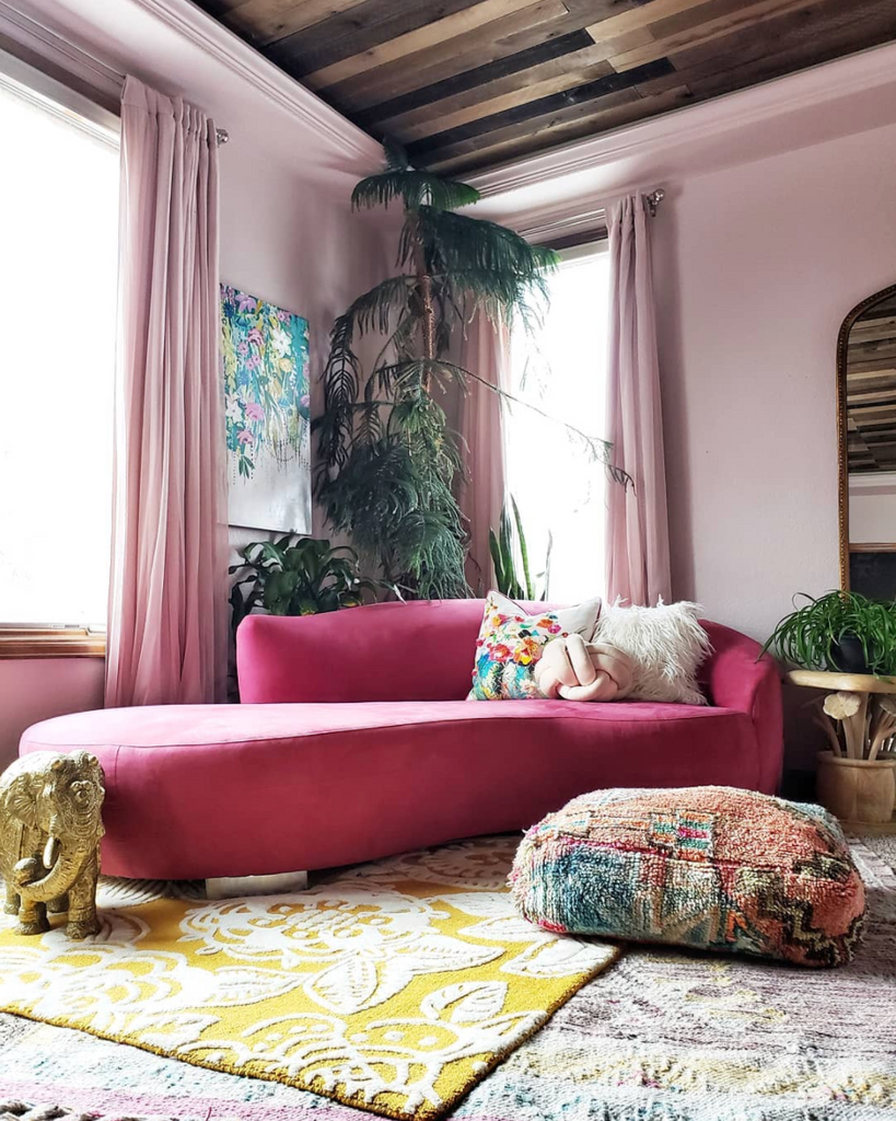 pink couch tina eclectic twist