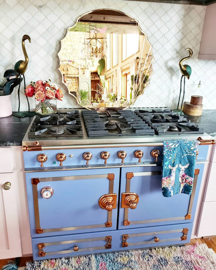 la cornue stove oven tina eclectic twist kitchen one room challenge ORC