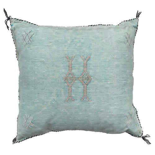 Sabra Statement Pillow Cover - Sea Foam Green - souks du monde