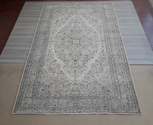 Vintage Overdyed Turkish Rug - 9'4