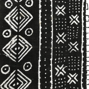 TWO Black Mudcloth Pillows - souks du monde
