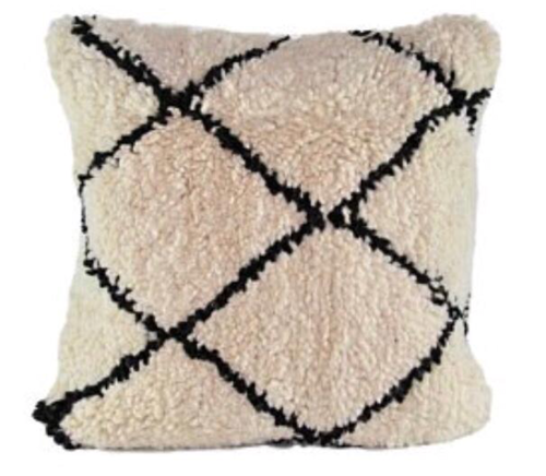 Beni Ourain Statement Pillow Cover - souks du monde