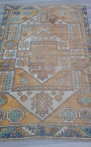 Turkish Vintage Rug - 6' x 3'7
