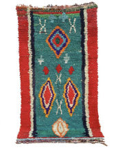 "Load image into Gallery viewer, Boucherouite Rug 7'3"" x 3'11"" / 220 x 120 cm - souks du monde"