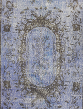 "Load image into Gallery viewer, Vintage Overdyed Turkish Rug - 7' x 3'9"" - souks du monde"