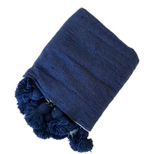 Load image into Gallery viewer, Pom Pom Blanket Montauk - souks du monde