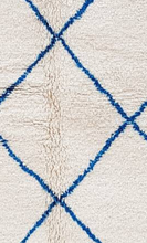 "Load image into Gallery viewer, Beni Ourain Blue Area Rug 8'10"" x 5'7"" - souks du monde"