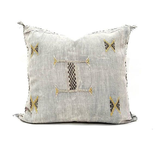 Sabra Statement Pillow Cover - Gray - souks du monde