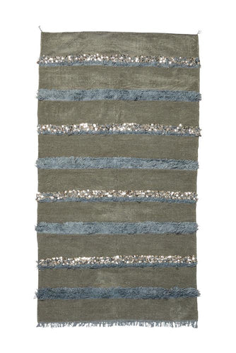 Gray Handira Wedding Blanket - souks du monde