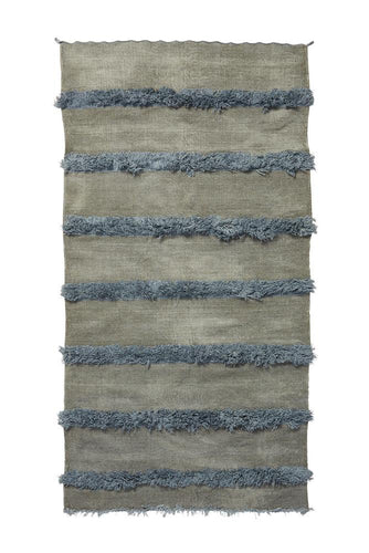 Gray Handira Wedding Blanket with Fringe - souks du monde