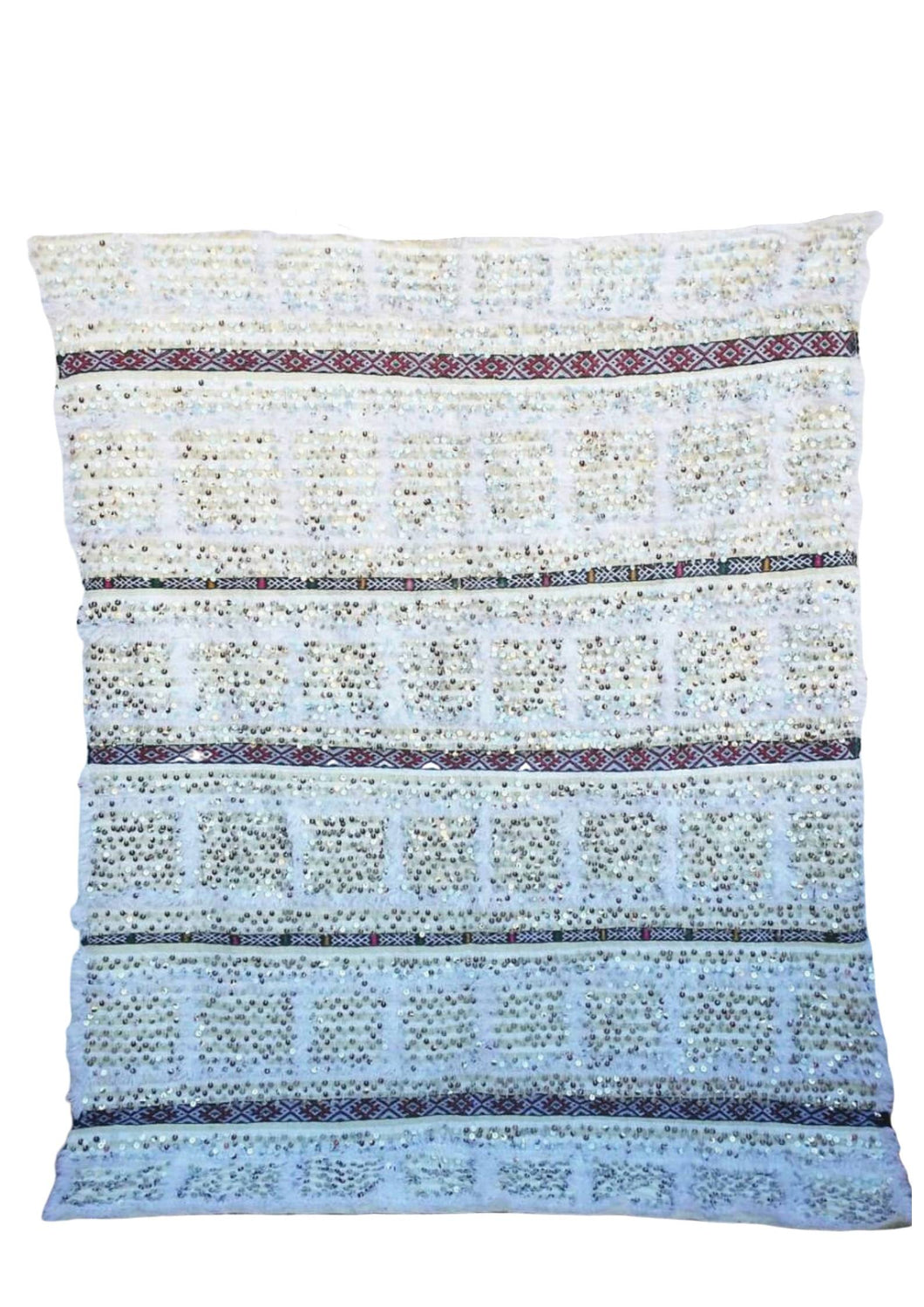 White Handira Wedding Blanket - souks du monde