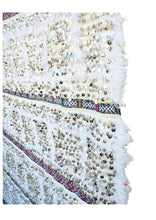 Load image into Gallery viewer, White Handira Wedding Blanket - souks du monde