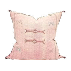 Sabra Statement Pillow Cover - Soft Pink - souks du monde