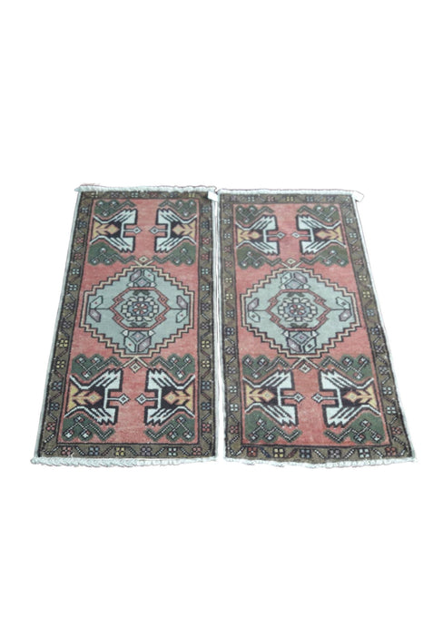 Pair of Turkish Vintage Rugs - 3' x 1'5