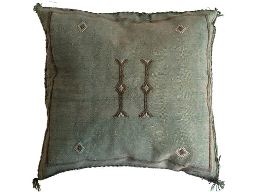 Sabra Statement Pillow Cover - Almond Green - souks du monde