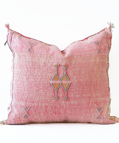 Sabra Statement Pillow Cover - Bubblegum Pink - souks du monde