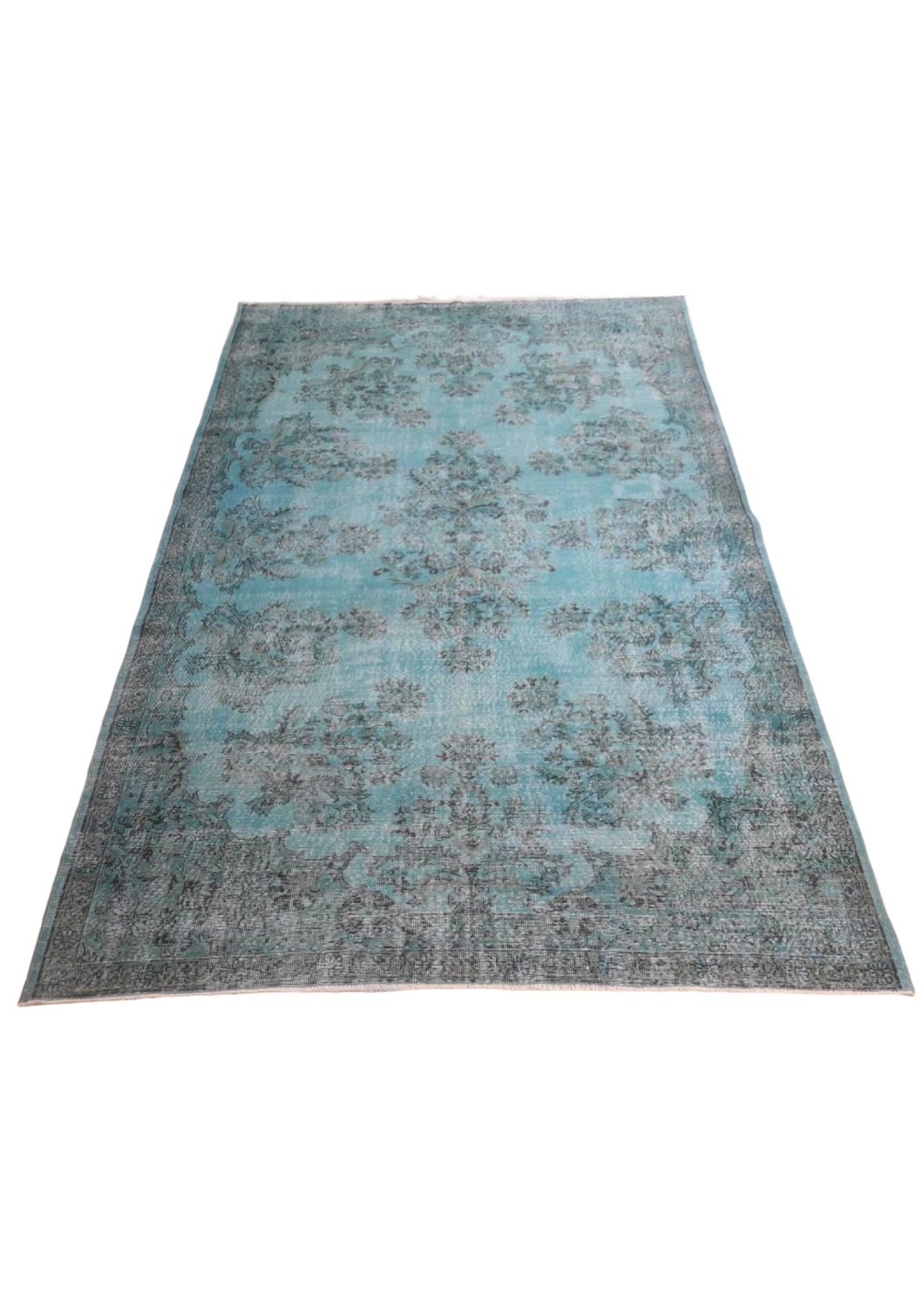 Vintage Overdyed Turkish Rug - 10'10