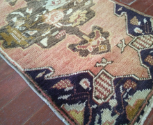 "Load image into Gallery viewer, Turkish Vintage Rug - 2'3"" x 1'3"" - souks du monde"