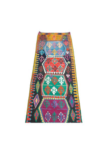 "Vintage Turkish Runner 10' x 2'9"" - souks du monde"