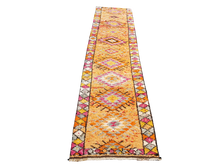 Load image into Gallery viewer, Turkish Herki runner orange pink white yellow