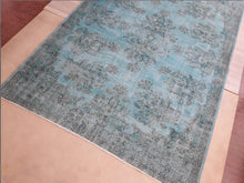 "Load image into Gallery viewer, Vintage Overdyed Turkish Rug - 10'10"" x 7'5"" - souks du monde"