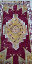 "Load image into Gallery viewer, Turkish Vintage Rug - 4'11"" x 2'6"" - souks du monde"