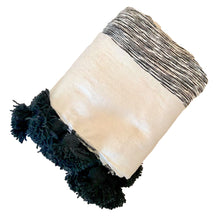 Load image into Gallery viewer, Pom Pom Blanket Throw Stracciatella - souks du monde