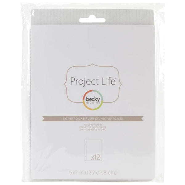 Project Life -  5 x7 Vertical Page Protectors