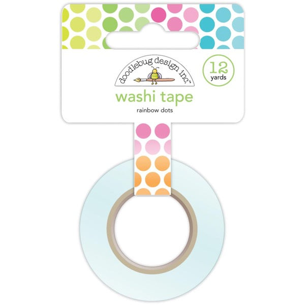 Doodlebug Designs Washi Tape - Rainbow Dots