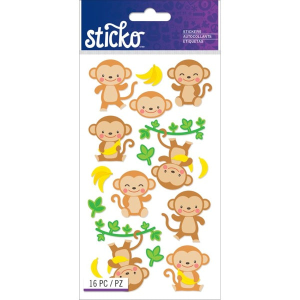 Dancing Monkeys Sticko Stickers