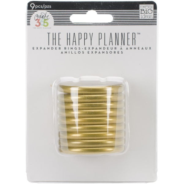 MAMBI Create 365 - Happy Planner Expander Rings Gold