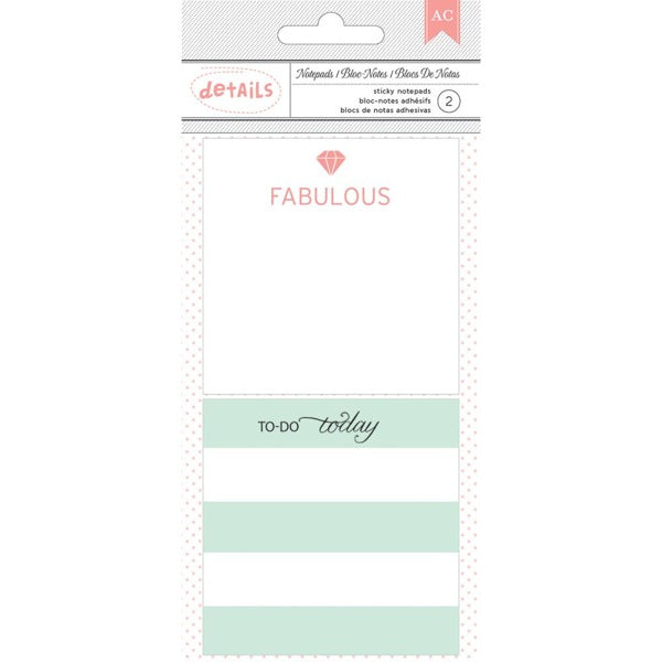 Designer Desktop Essentials Sticky Notes - Fabulous