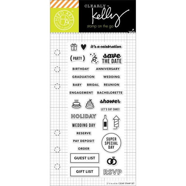 Hero Arts  Kelly Purkey Clear Acrylic Stamp Set - Occassion