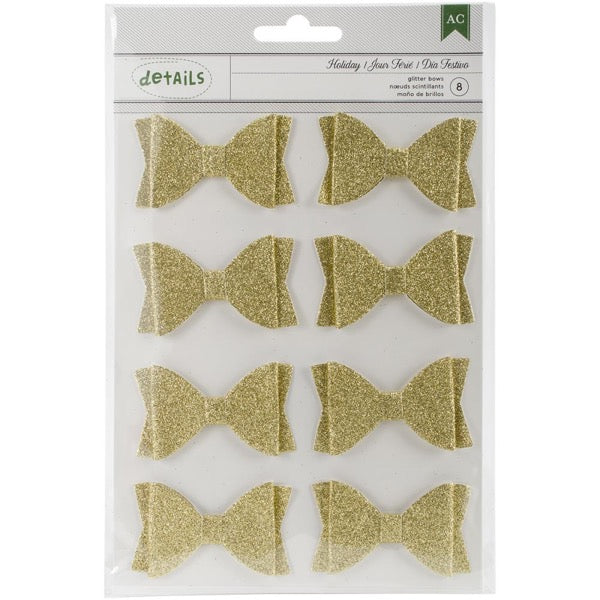 American Crafts Bows - Gold Glitter