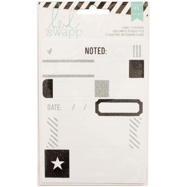 Heidi Swapp Label Stickers - Black
